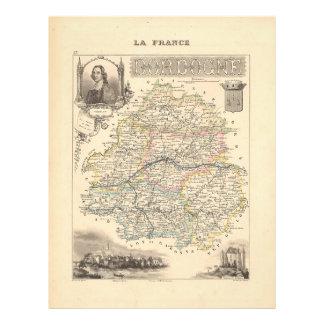 1858 Map of Dordogne Department, France Flyer