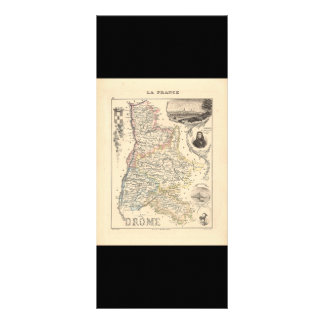 1858 Map of Drome Department, France Custom Rack Cards