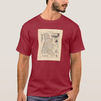 1858 Map of Drome Department, France T-Shirt