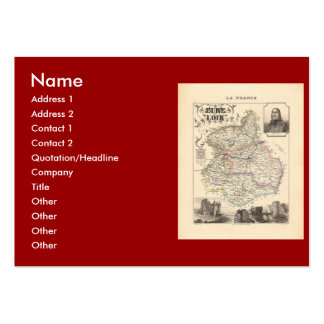 1858 Map of Eure et Loir Department France Business Card