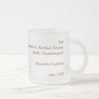 1858 Map of French India (Inde, France) Frosted Glass Coffee Mug