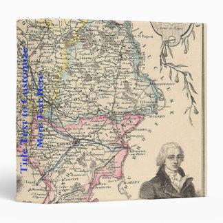 1858 Map of Gard Department, France 3 Ring Binder