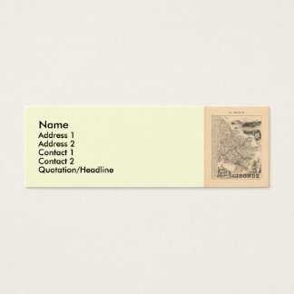 1858 Map of Gironde Department, France Mini Business Card