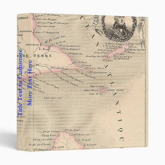 1858 Map of Guadeloupe Department, France 3 Ring Binder