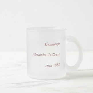 1858 Map of Guadeloupe Department, France Frosted Glass Coffee Mug