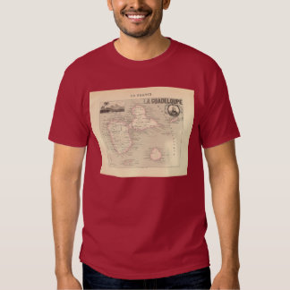 1858 Map of Guadeloupe Department, France T Shirt