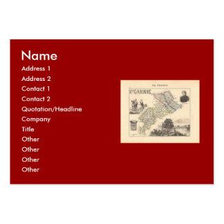 1858 Map of Haute Garonne Department France Business Card