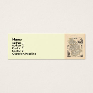 1858 Map of Haute Marne Department, France Mini Business Card