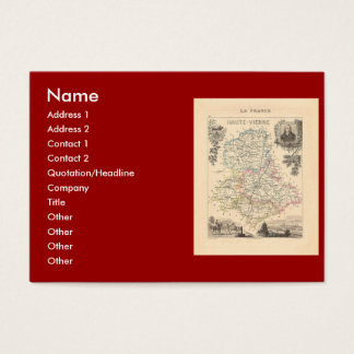 1858 Map of Haute Vienne Department, France Business Card