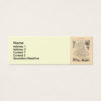 1858 Map of Haute Vienne Department, France Mini Business Card