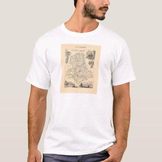 1858 Map of Haute Vienne Department, France T-Shirt