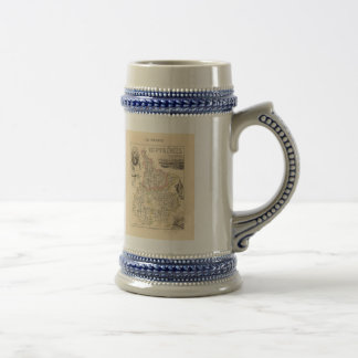 1858 Map of Hautes Pyrenees Department, France Beer Stein