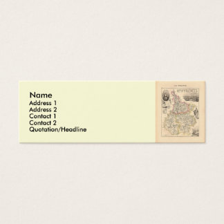 1858 Map of Hautes Pyrenees Department, France Mini Business Card
