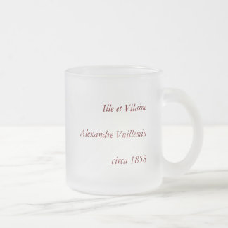 1858 Map of Ille et Vilaine Department, France Frosted Glass Coffee Mug