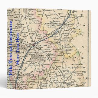1858 Map of Indre Department, France Binder
