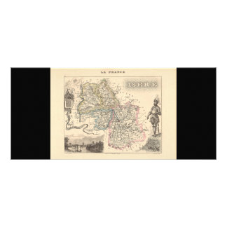 1858 Map of Isere Department, France Rack Card Template