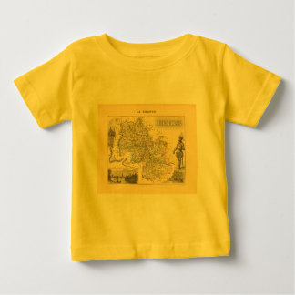 1858 Map of Isere Department, France Tshirts