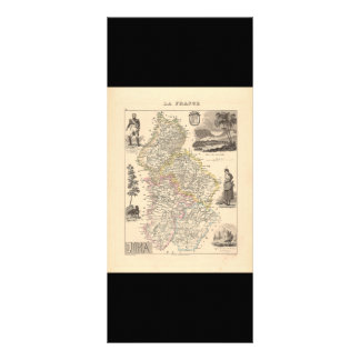 1858 Map of Jura Department, France Rack Card Template