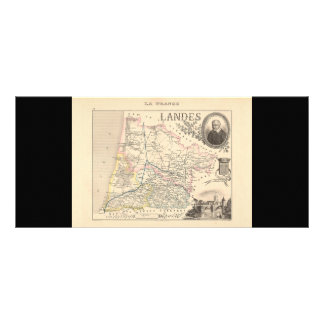 1858 Map of Landes Department, France Customized Rack Card