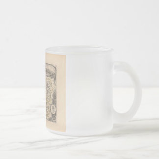 1858 Map of Loiret Department, France Frosted Glass Coffee Mug