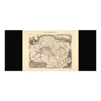 1858 Map of Loiret Department, France Custom Rack Cards