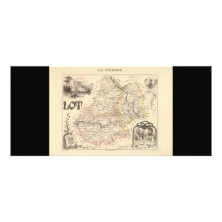 1858 Map of Lot Department, France Personalized Rack Card