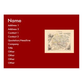1858 Map of Lot et Garonne Department France Business Cards