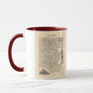 1858 Map of Manche Department, France Mug