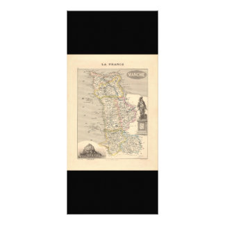 1858 Map of Manche Department, France Custom Rack Card