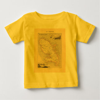 1858 Map of Martinique Department, France Tee Shirts