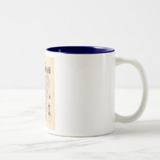 1858 Map of Mayenne Department, France Two-Tone Coffee Mug
