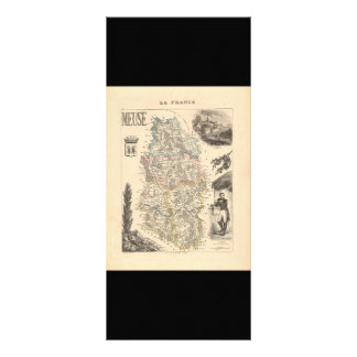 1858 Map of Meuse Department, France Personalized Rack Card