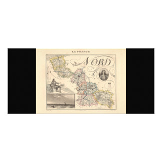 1858 Map of Nord Department, France Custom Rack Card