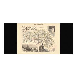 1858 Map of Orne Department, France Rack Card Design