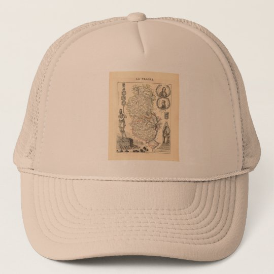 1858 Map of Rhone Department, France Trucker Hat