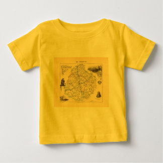 1858 Map of Sarthe Department, France T Shirts