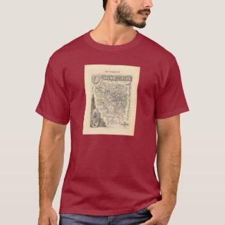 1858 Map of Seine et Oise Department, France T-Shirt