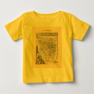 1858 Map of Seine et Oise Department, France Tshirts