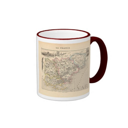 1858 Map of Var Department, France Mugs