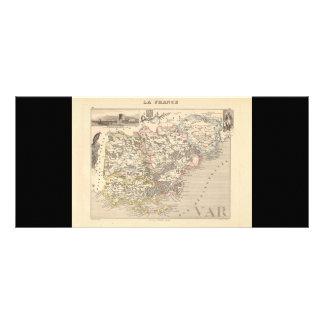1858 Map of Var Department, France Rack Card