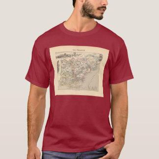 1858 Map of Var Department, France T-Shirt