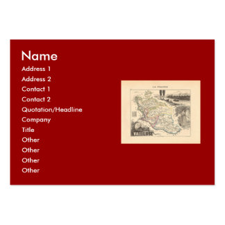 1858 Map of Vaucluse Department, France Large Business Cards (Pack Of 100)