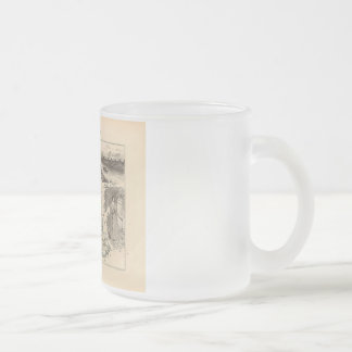 1858 Map of Vaucluse Department, France 10 Oz Frosted Glass Coffee Mug