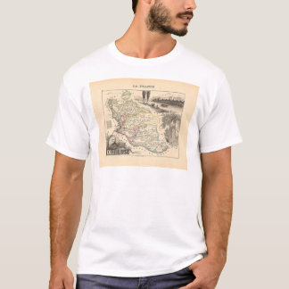 1858 Map of Vaucluse Department, France T-Shirt