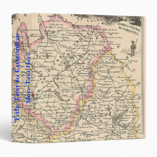 1858 Map of Vendee Department, France Binder
