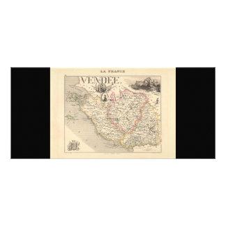 1858 Map of Vendee Department, France Custom Rack Card