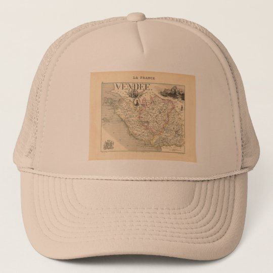 1858 Map of Vendee Department, France Trucker Hat