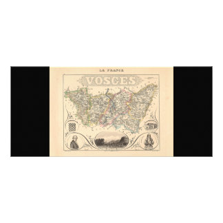 1858 Map of Vosges Department, France Customized Rack Card