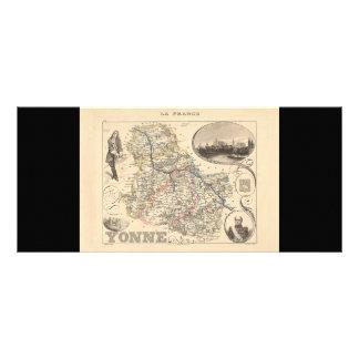 1858 Map of Yonne Department, France Custom Rack Card