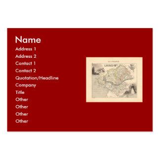 1858 Map ofLoire Inferieure Department France Business Card Template